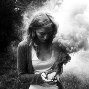 Girl with Smoke Bomb